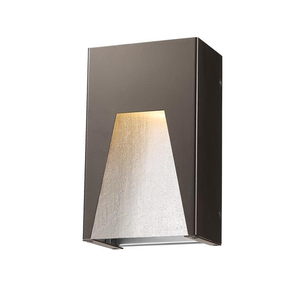 Z-Lite Millenial 10.00-In x 6.00-In Bronze Silver Outdoor Wall Light