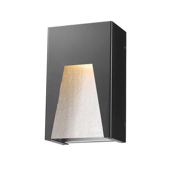 Z-Lite Acclaim Lighting Millenial 10.00-in x 6.00-in Black Silver Outdoor Wall Light