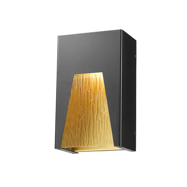 Z-Lite Acclaim Lighting Millenial 10.00-in x 6.00-in Black Gold Outdoor Wall Light