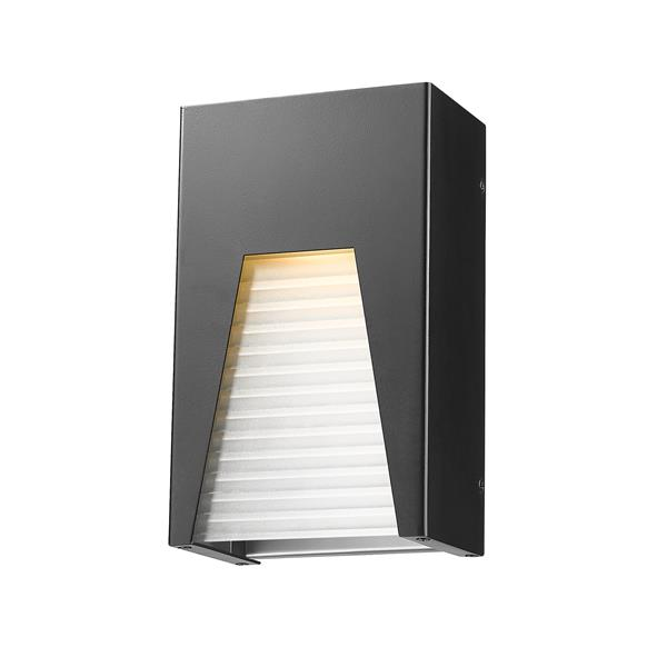 Z-Lite Millenial 10.00-in x 6.00-in Black Silver Outdoor Wall Light