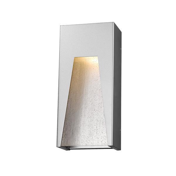 Z-Lite Millenial 13.25-In x 6.00-In Silver Outdoor Wall Light