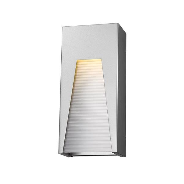 Z-Lite Millenial 13.25-In x 6.00-In Silver Outdoor Wall Light