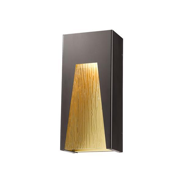 Z-Lite Millenial 13.25-In x 6.00-In Bronze Gold Outdoor Wall Light