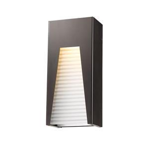 Z-Lite Millenial 13.25-In x 6.00-In Bronze Silver Outdoor Wall Light