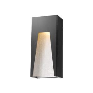 Z-Lite Millenial 13.25-in x 6.00-in Black Silver Outdoor Wall Light