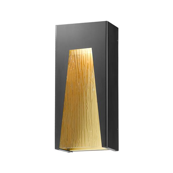 Z-Lite Acclaim Lighting Millenial 18.00-in x 8.00-in Black Gold Outdoor Wall Light