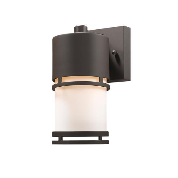 Z-Lite Luminata 8.88-In x 4.38-In Deep Bronze Outdoor LED Wall Light