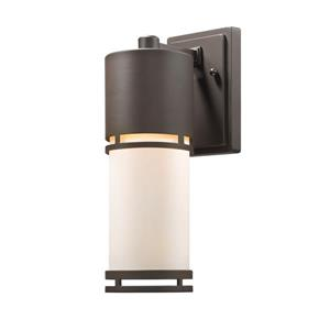 Z-Lite Luminata 13.75-In x 4.50-In Deep Bronze Outdoor LED Wall Light