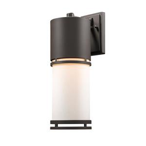 Z-Lite Luminata 17.63-In x 5.88-In Deep Bronze Outdoor LED Wall Light