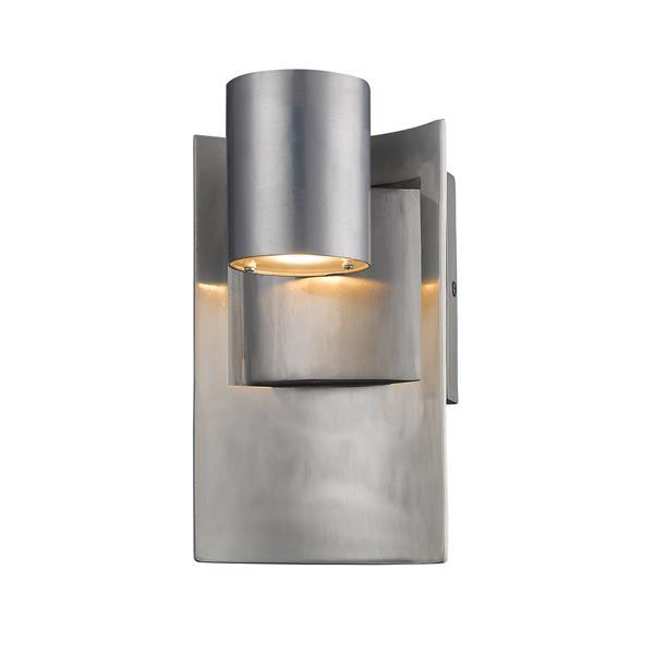 Z-Lite Amador 9.63-in Silver Outdoor Sconce