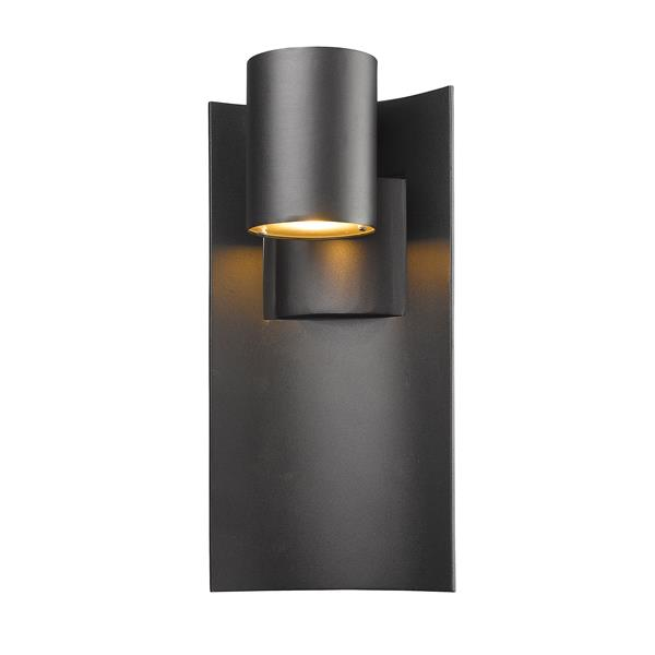 Z-Lite Amador 12-in Black Outdoor Sconce