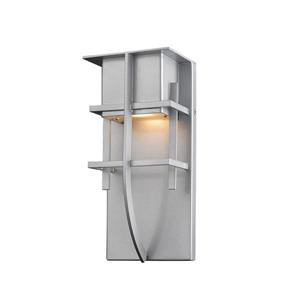 Z-Lite Stillwater 10.75-in Silver LED Outdoor Wall Sconce