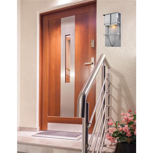 Z-Lite Stillwater 14.75-in Silver LED Outdoor Wall Sconce
