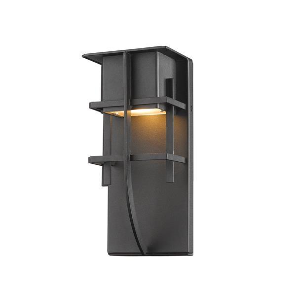 Z-Lite Stillwater 10.75-in Black LED Outdoor Wall Sconce