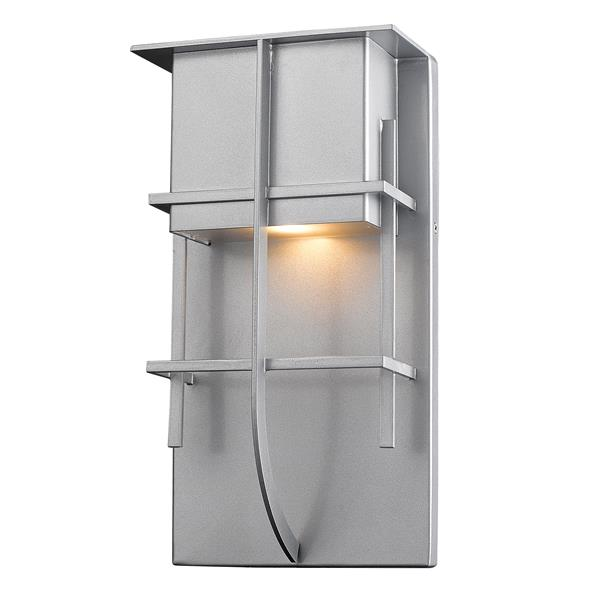 Z-Lite Stillwater 19-in Silver LED Outdoor Wall Sconce