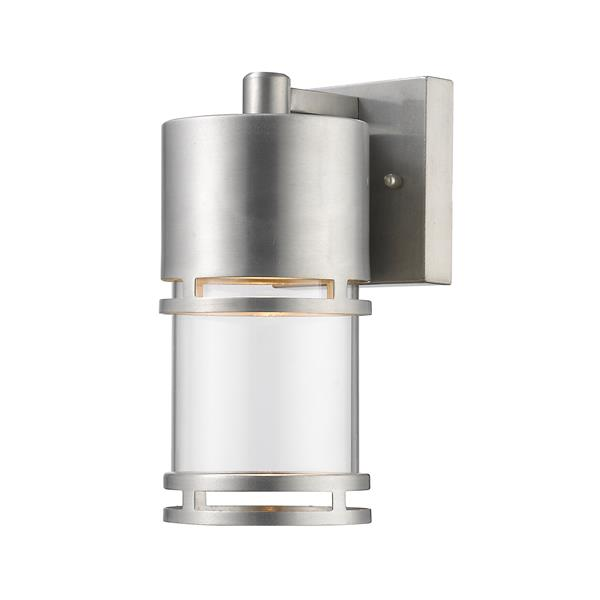 Z-Lite Luminata 8.88-In x 4.38-In Brushed Aluminum Outdoor LED Wall Light