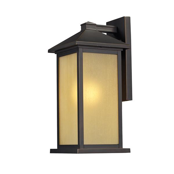 Z-Lite Vienna 22-in Large Oil Rubbed Bronze Tinted Seedy Outdoor Wall Sconce