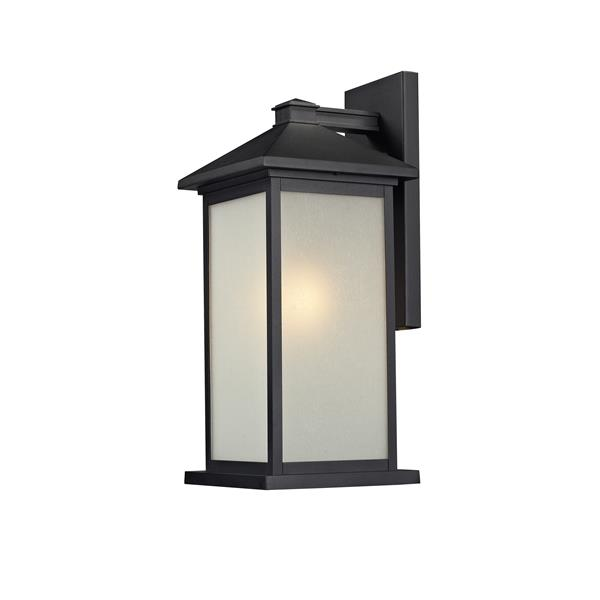 Z-Lite Vienna 22-in Large Black White Seedy Outdoor Wall Sconce