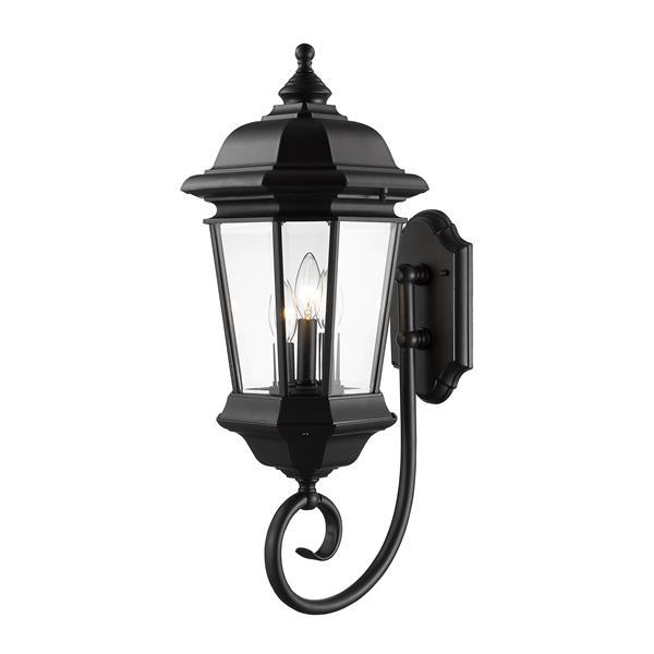 Z-Lite Melbourne 25.50-In x 13.75-In Black 3-Light Outdoor Wall Light