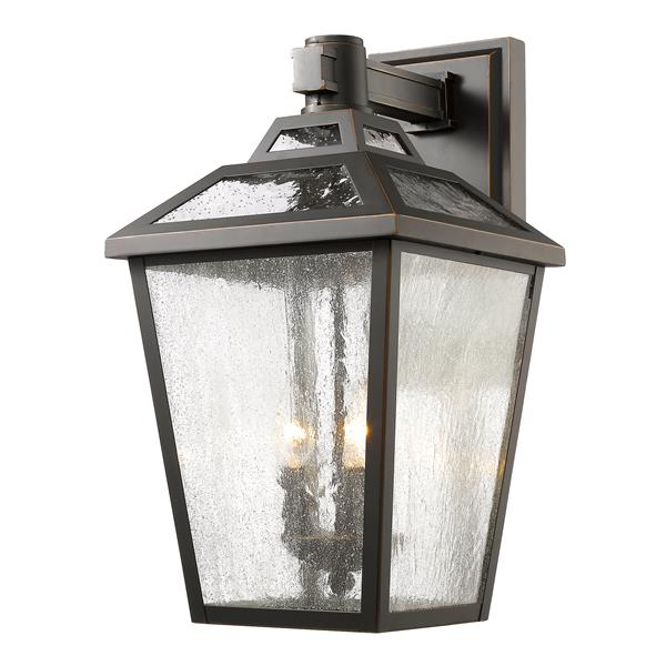 Z-Lite Bayland 20.13-in x 11-in Oil Rubbed Bronze Outdoor Wall Light