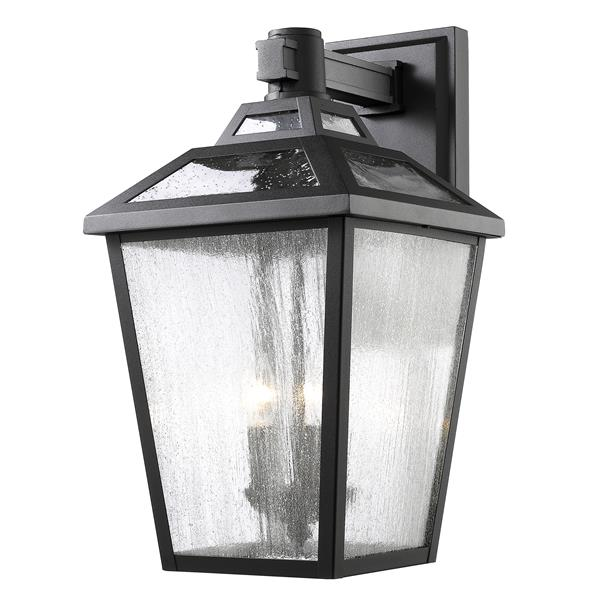 Z-Lite Bayland 20.13-in x 11-in Black Outdoor Wall Light