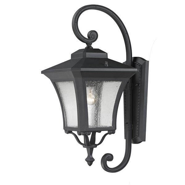 Z-Lite Waterdown 22.5-in Sand Black Seeded Outdoor Wall Sconce
