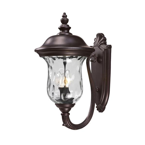 Z-Lite Armstrong 19.50-in x 10-in Bronze Outdoor Wall Light
