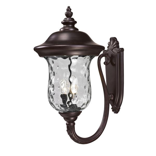 Z-Lite Armstrong 24.25-in x 12.37-in Bronze Outdoor Wall Light