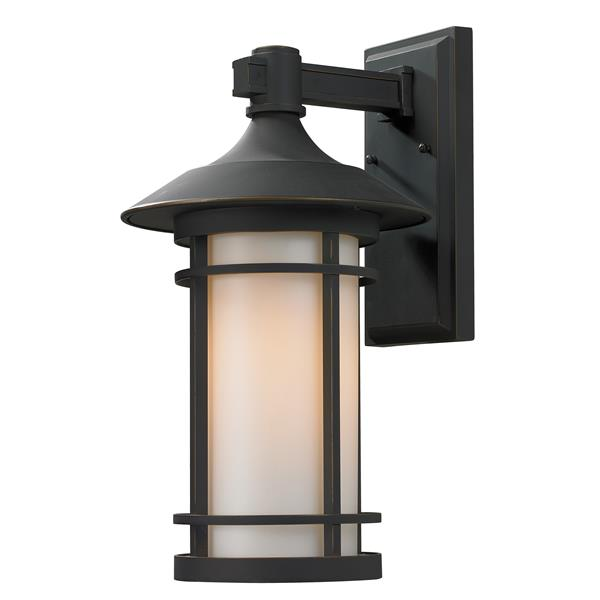 Z-Lite Woodland 18.12-in Large Oil Rubbed Bronze Outdoor Wall Sconce