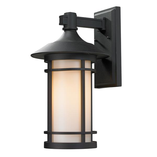 Z-Lite Woodland 18.12-in Large Black Outdoor Wall Sconce