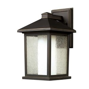 Z-Lite Mesa 14.00-In x 8.00-In Oil Rubbed Bronze Outdoor Wall Light