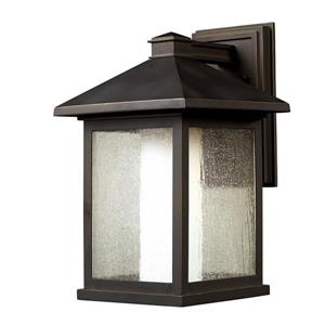 Z-Lite Artisan 15.75-in Oil Rubbed Bronze Seedy Outdoor Wall Sconce