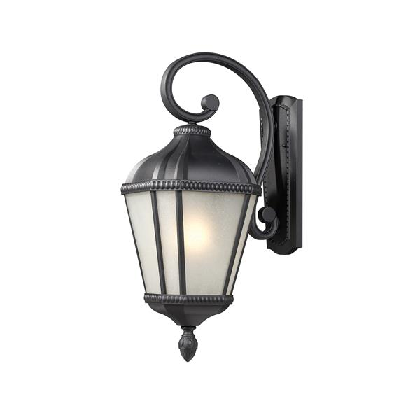 Z-Lite Waverly 22.5-in Black Seeded Outdoor Wall Sconce