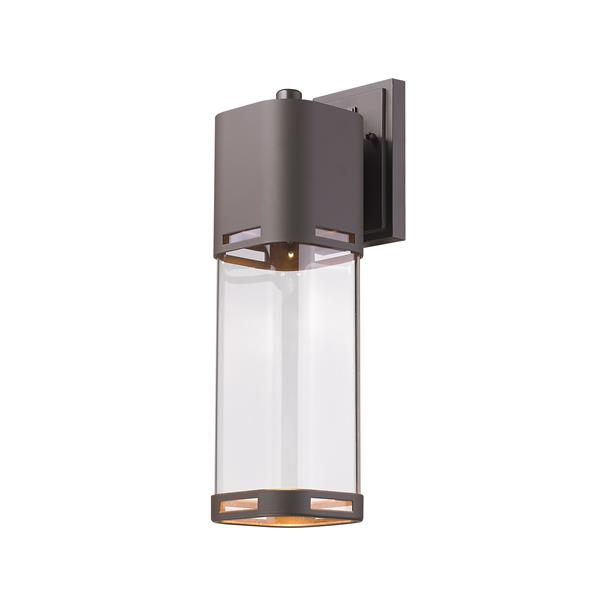 Z-Lite Lestat 17.62-in Bronze Clear Glass LED Outdoor Wall Sconce