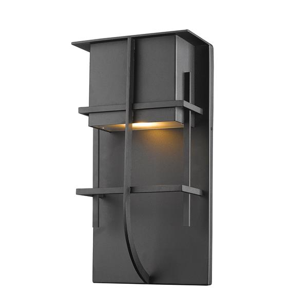 Z-Lite Stillwater 14.75-in Black LED Outdoor Wall Sconce