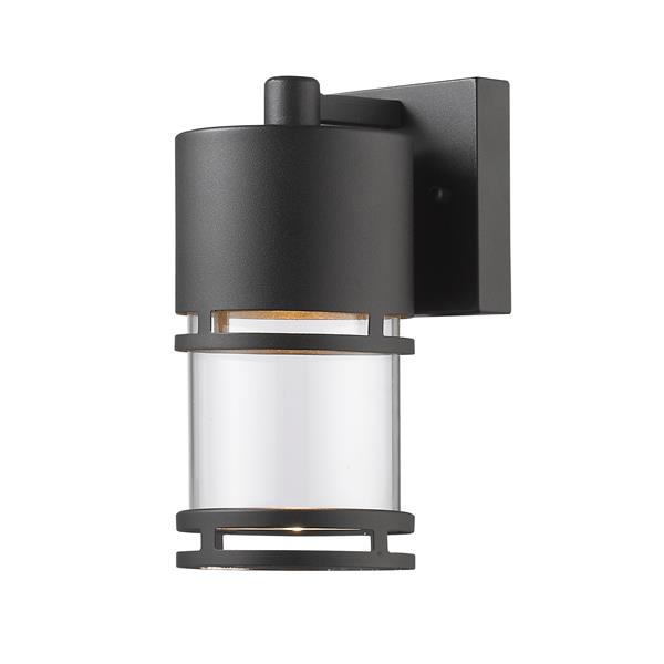 Z-Lite Luminata 8.88-In x 4.38-In Black Outdoor LED Wall Light