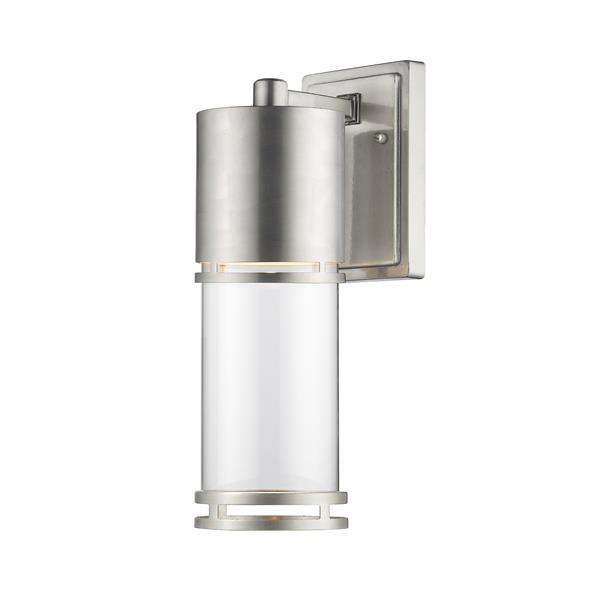 Z-Lite Luminata 13.75-In x 4.50-In Brushed Aluminum Outdoor LED Wall Light