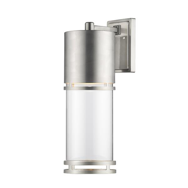 Z-Lite Luminata 17.63-In x 5.88-In Brushed Aluminum Outdoor LED Wall Light