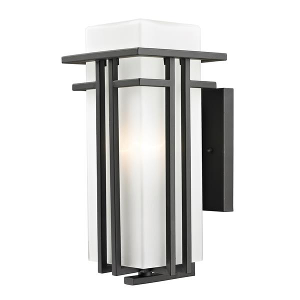Z-Lite Abbey 14.63-in Medium Rubbed Bronze Outdoor Wall Sconce