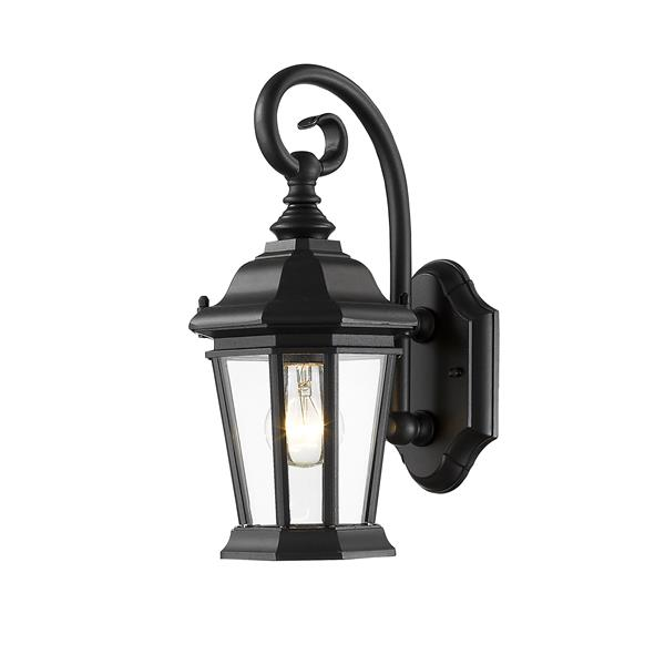 Z-Lite Melbourne 14.00-In x 8.75-In Black Outdoor Wall Light