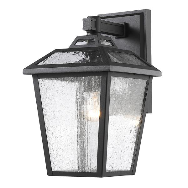 Z-Lite Bayland 13.25-In x 7.75-In Black Outdoor Wall Light