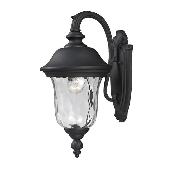 Z-Lite Armstrong 15.75-in x 8-in Black Outdoor Wall Light