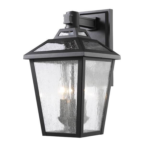 Z-Lite Bayland 16.63-In x 9.00-In Black Outdoor Wall Light