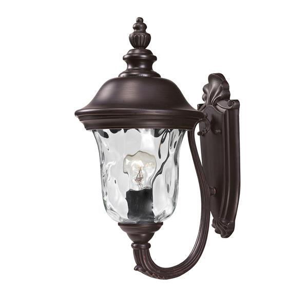 Z-Lite Armstrong 15.75-in x 8-in Bronze Outdoor Wall Light