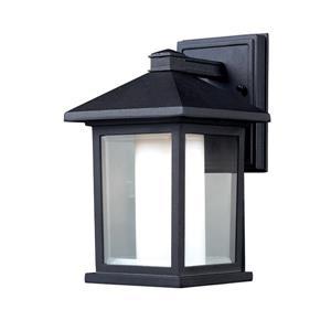 Z-Lite Mesa 10.50-In x 6.00-In Black Outdoor Wall Light
