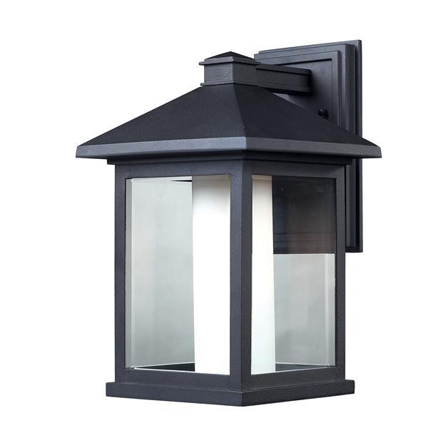 Z-Lite Mesa 15.75-In x 9.50-In Black Outdoor Wall Light
