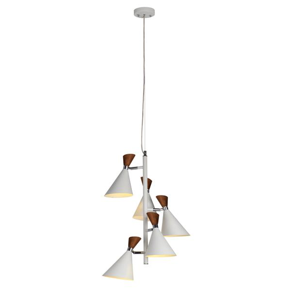 Lumirama MELANIA Matte White 5-Light Pendant Light