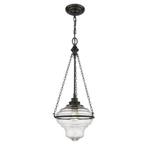 Lumirama De Burgh Dark Brown And Glass Pendant Light