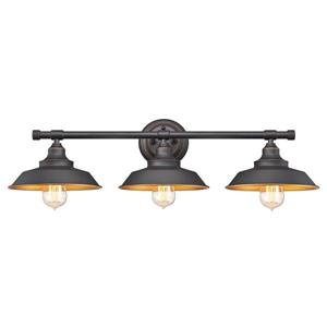 Westinghouse Lighting Canada Iron Hill 29.09-in Bronze 3-Light Wall Fixture