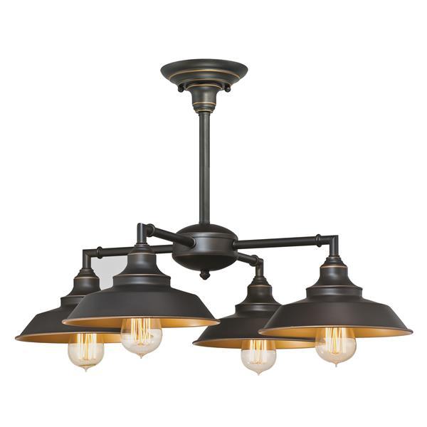 Westinghouse Lighting Canada Iron Hill 25.20-in Bronze 4-Light Indoor Chandelier